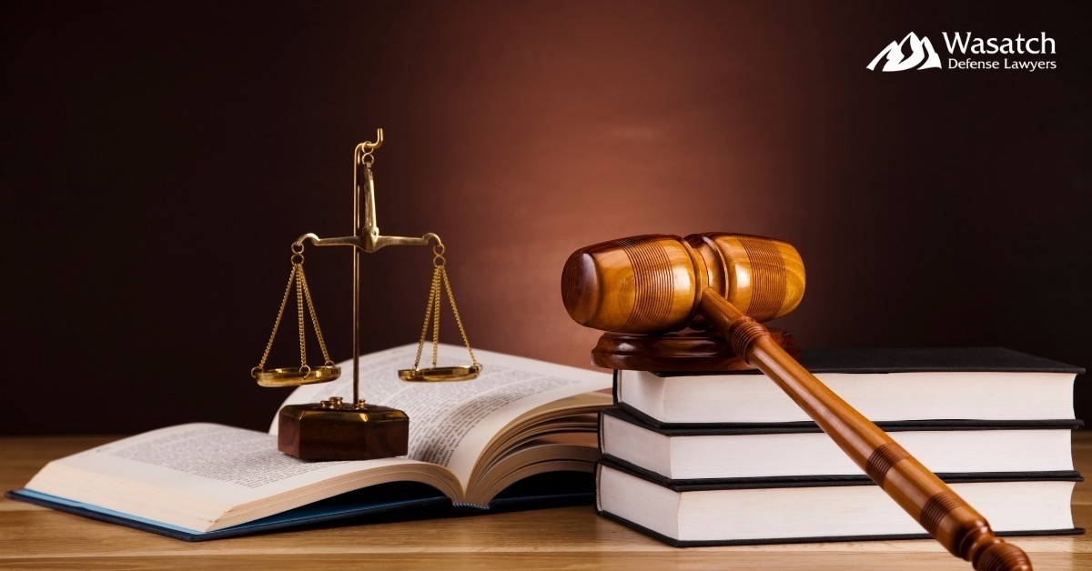 Books, Gavel, Scale on Table